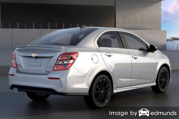 Insurance rates Chevy Sonic in Riverside