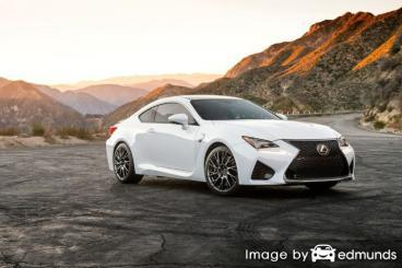 Insurance rates Lexus RC F in Riverside