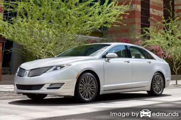 Insurance rates Lincoln MKZ in Riverside