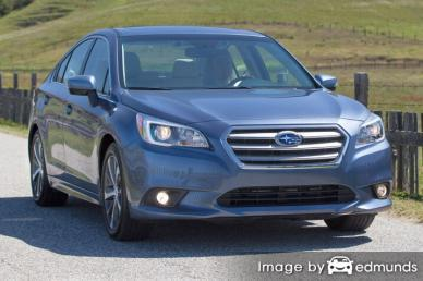 Insurance rates Subaru Legacy in Riverside