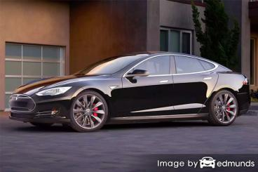 Insurance quote for Tesla Model S in Riverside